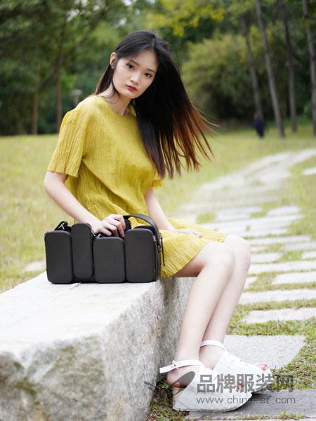 底色女装2018春夏修身韩版棉麻短袖连衣裙