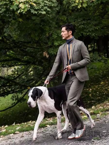鄂尔多斯高级男装/鄂尔多斯时尚男装2018春夏商务休闲西装套装