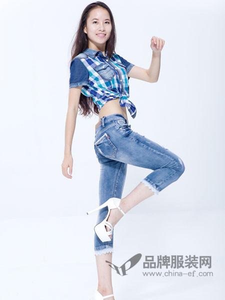 365+1牛仔韩版高腰加绒加厚小脚裤