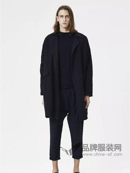 J.P.E男装2018春时尚商务呢子中长外套
