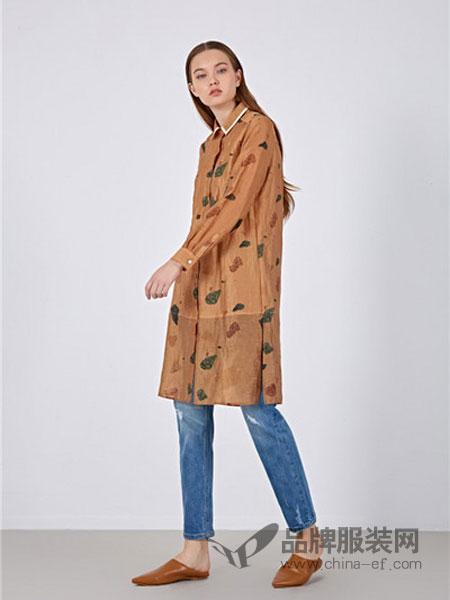 女性日记女装2018春夏修身印花中长款外套