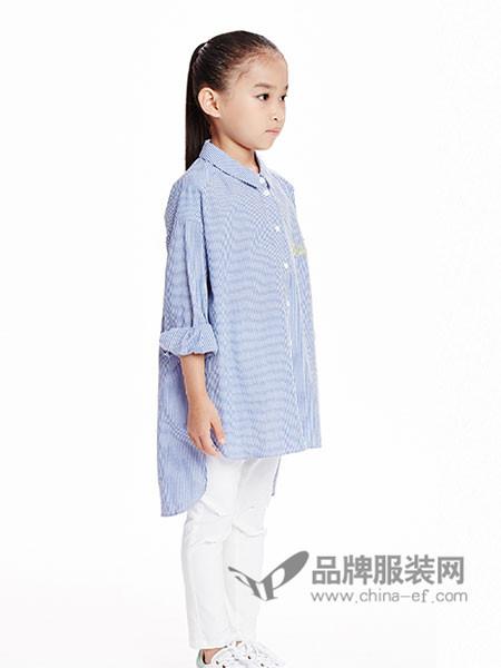 SUNTOMORROW尚T童装韩版中大儿童衬衫裙条纹衬衣