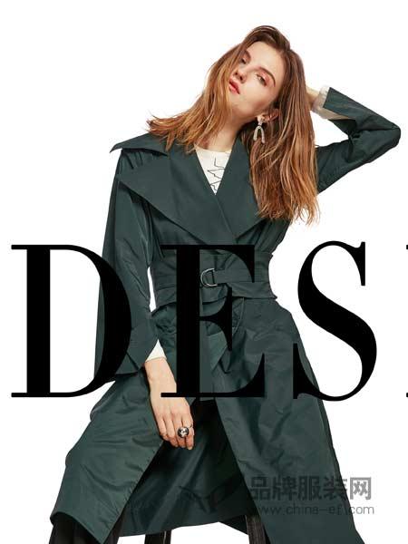 卡布依女装2018春夏韩版大翻领修身大衣外套