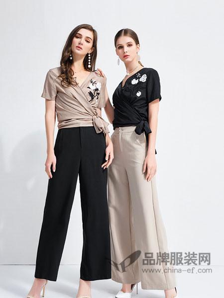 艾丽哲女装2018春夏黑色休闲裤韩版宽松直筒裤子
