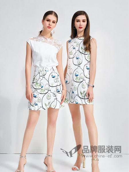 艾丽哲女装2018春夏时尚提花百搭清新半身裙