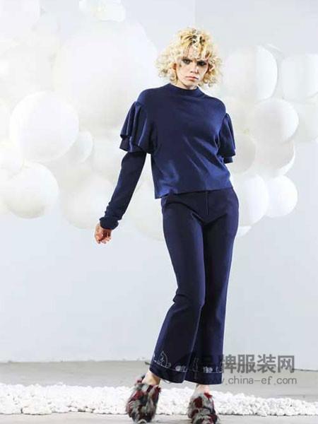 适度女装2017秋冬时尚优雅灯笼长袖上衣