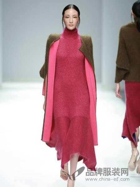 艾玛霍女装2018春夏长袖针织开衫时尚两件套针织套装连衣裙