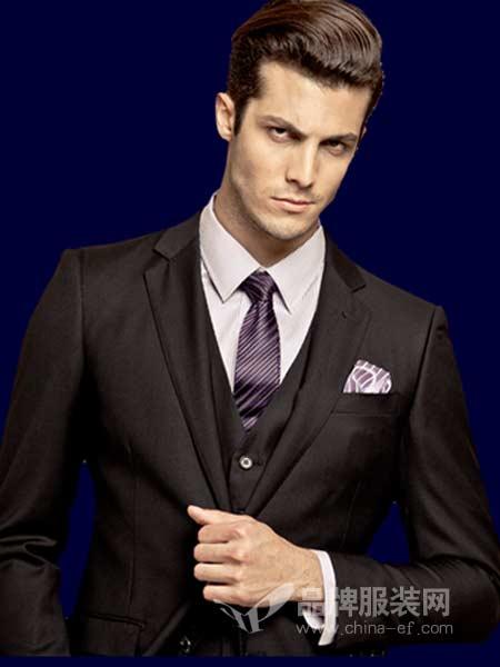 博格西尼BOGEASENI男装时尚西服套装新郎礼服修身外套