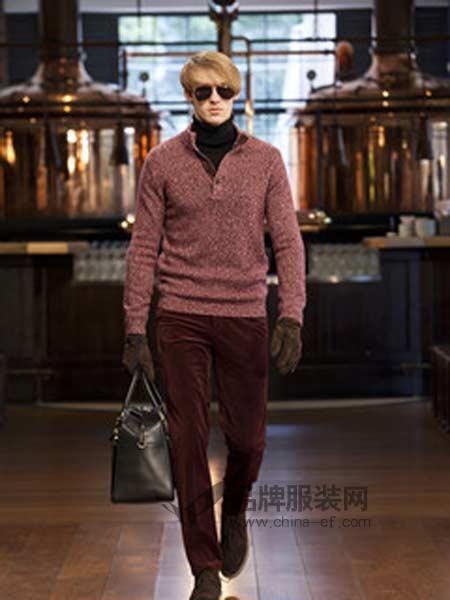 博格西尼BOGEASENI男装加厚羊绒衫高端品牌针织毛衣