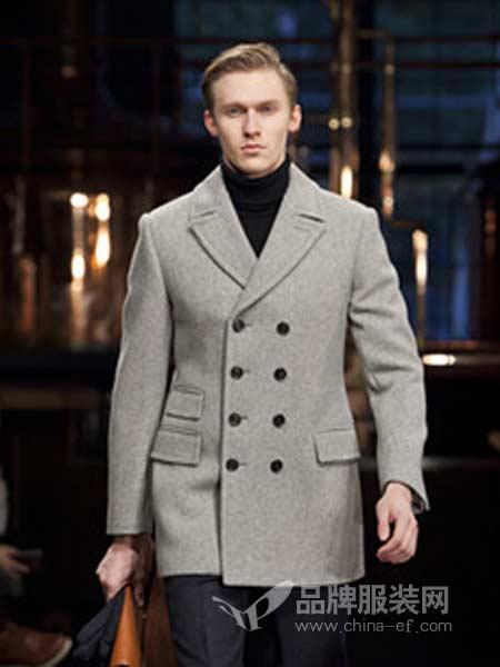 博格西尼BOGEASENI男装中长款韩版青年毛呢外套修身羊毛秋冬商务男士呢子风衣