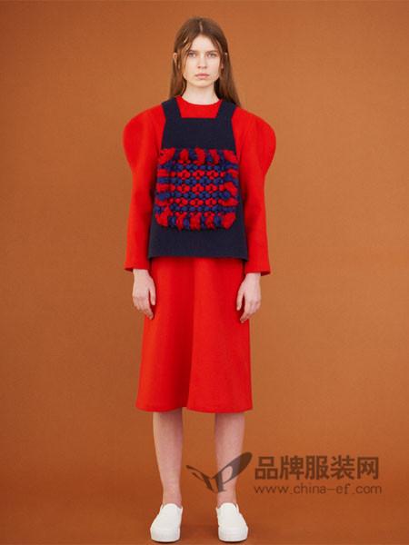 Museum of Friendship(MOF)女装手工编织羊毛马甲背心拼接呢子外套