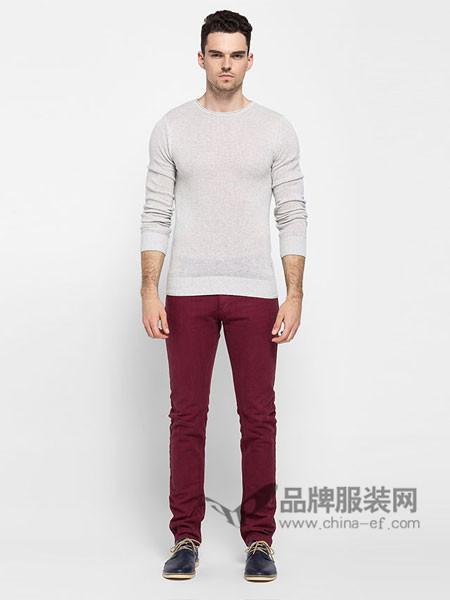 ADOLFO DOMINGUEZ男装时尚休闲简约长袖男T恤