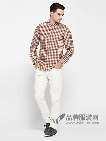 ADOLFO DOMINGUEZ男装时尚休闲格子方领衬衣