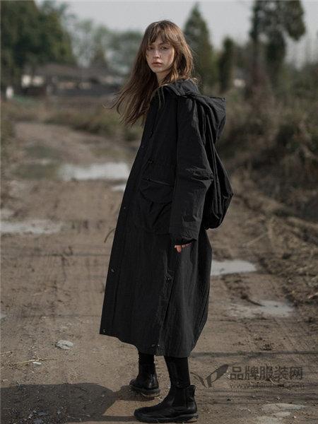 日着女装2018春夏时尚休闲中长连帽外套