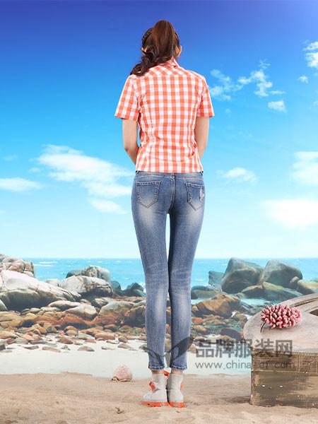 西都本色牛仔修身显瘦反扁弹力牛仔裤九分裤