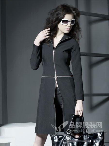 普扉女装时尚修身中长显瘦外套