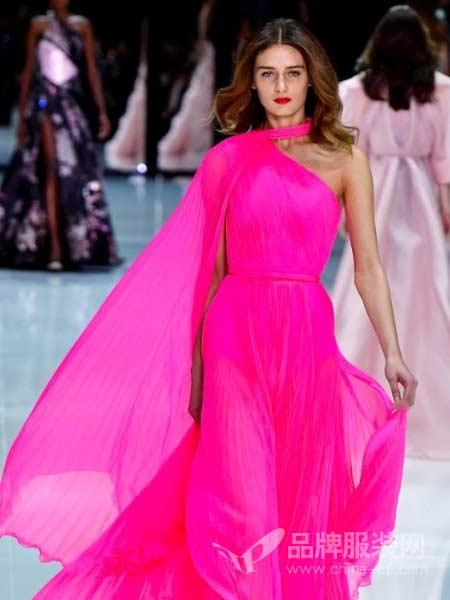 Ralph & Russo女装2018春夏新款气质波西米亚吊带雪纺长裙纯色V领性感海边度假沙滩裙显瘦仙