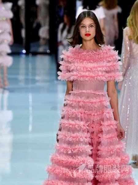 Ralph & Russo女装2018春夏前短后长礼服 鱼尾两件套礼服 正品