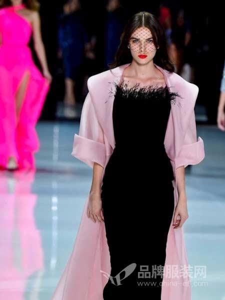 Ralph & Russo女装2018春夏模特长款两件套