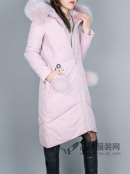 韩国TB2女装2017秋冬羽绒服女中长款冬装连帽修身羽绒保暖外套