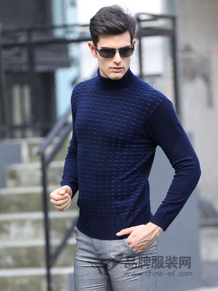 卓西龙男装2017秋冬男装毛衣中年男士羊毛打底衫长袖套头冬季毛衣潮