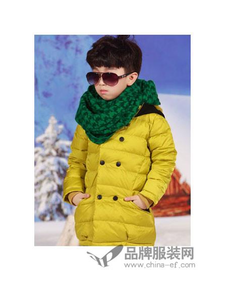 时尚世家童装时尚休闲保暖中长男羽绒服