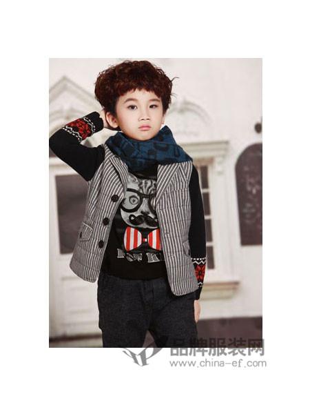 时尚世家童装时尚休闲韩式拼接男外套