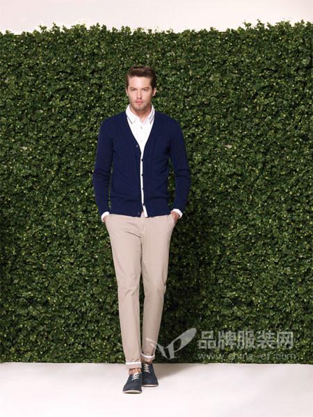 罗宾汉男装时尚商务百搭针织外套