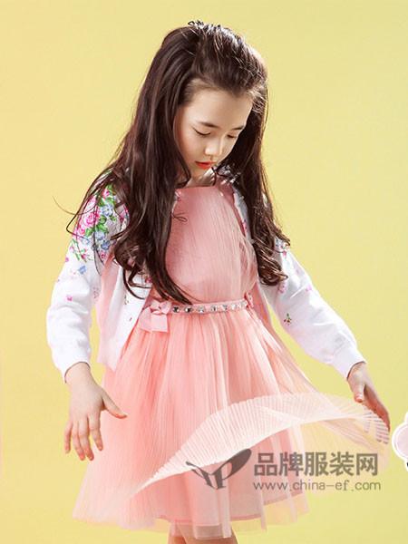 摩登小姐童装时尚优雅气质雪纺公主裙