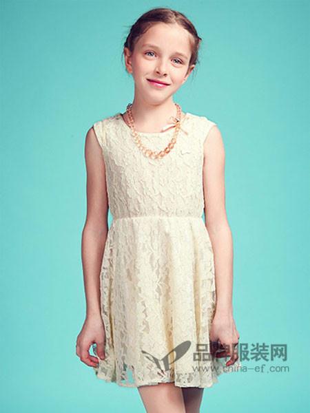 摩登小姐童装时尚优雅气质蕾丝连衣裙