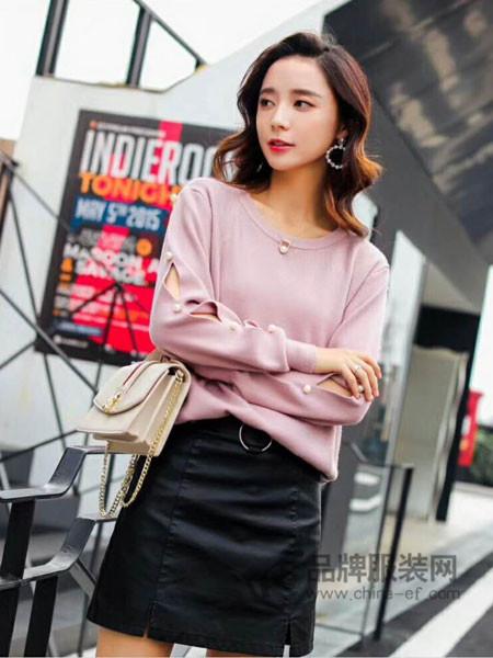 左韩女装2018春时尚优雅气质雪纺上衣