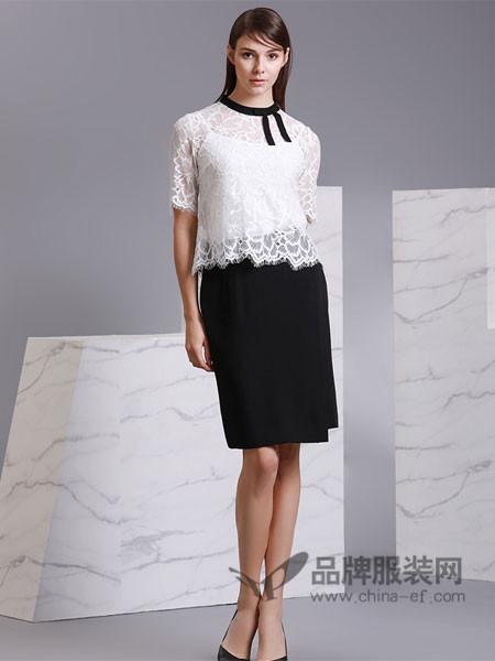 名师路女装2018春夏黑色包臀裙不规则新款高腰显瘦a字中长款半身裙