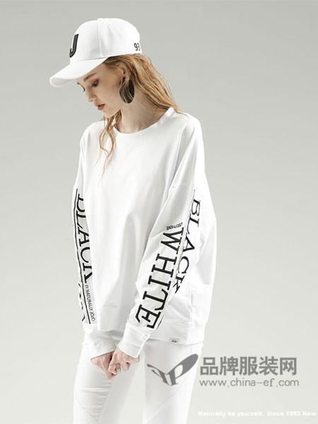 naturally-jojo女装2018春时尚休闲字母宽松卫衣