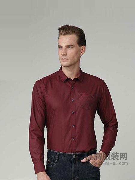 花花公子男装时尚商务正装长袖衬衣
