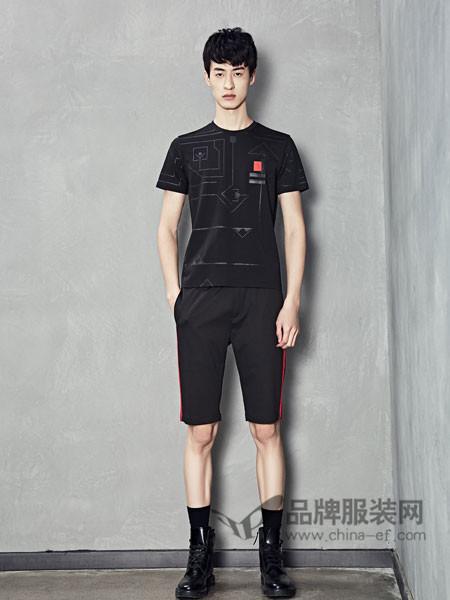 1943S男装2018春夏休闲简约运动百搭短袖T恤