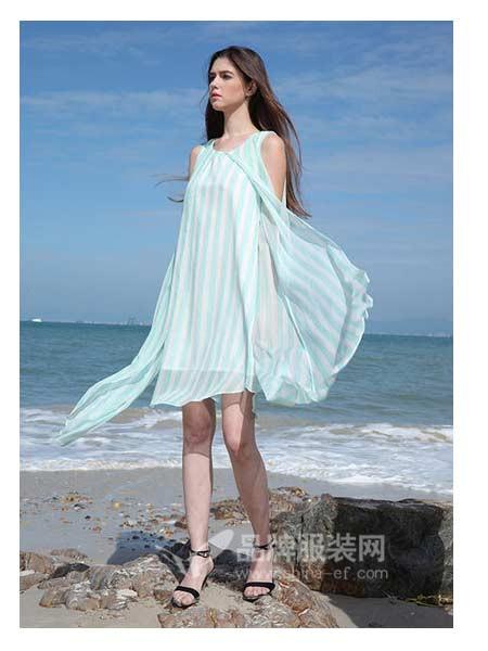 娇雪芳菲女装2018春夏性感浅蓝色露肩沙滩中长裙