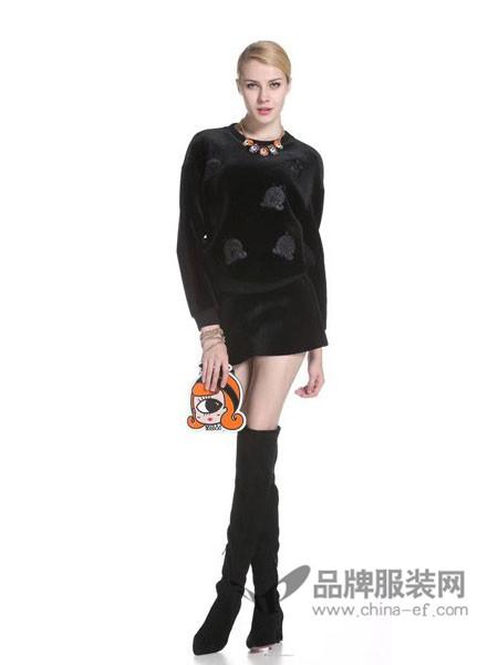 Asmpin女装2017秋冬时尚优雅气质百搭上衣