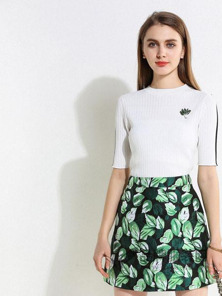 浩洋国际女装2018春新款韩版简约九分袖钉珠休闲女式T恤