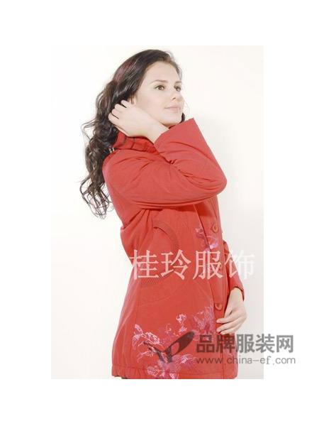 桂玲女装时尚中长保暖妈妈棉衣外套