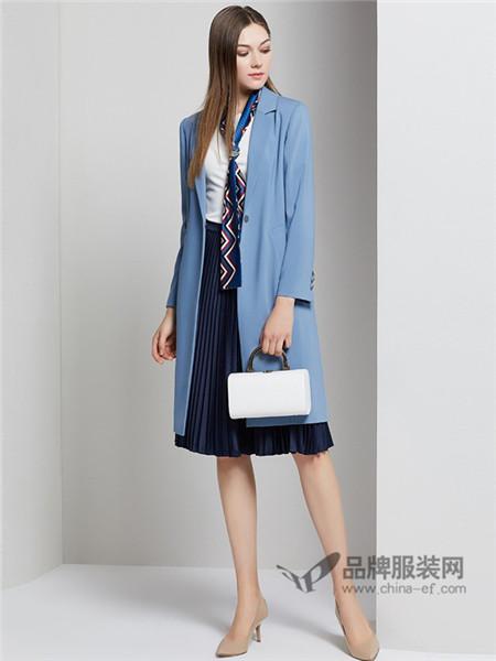 粉蓝衣櫉2018女式风衣