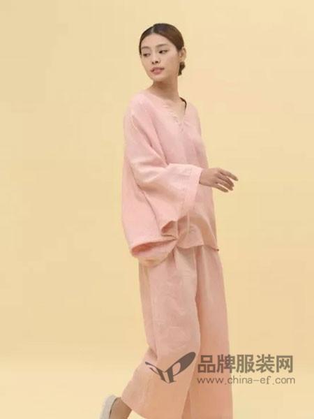 3时女装休闲复古文艺宽松棉麻长袖套装