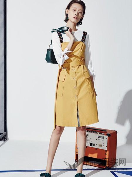 HALOHAPPY女装2018春夏时尚吊带裙