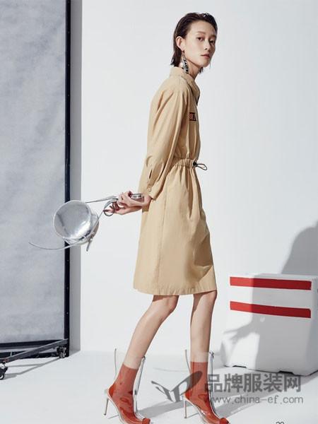 HALOHAPPY女装2018春夏显瘦紧身系腰带裙