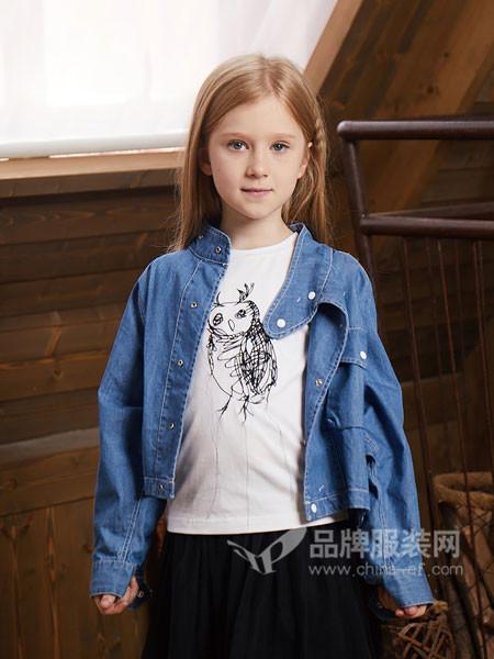 YukiSo童装2018春休闲时尚百搭牛仔女外套