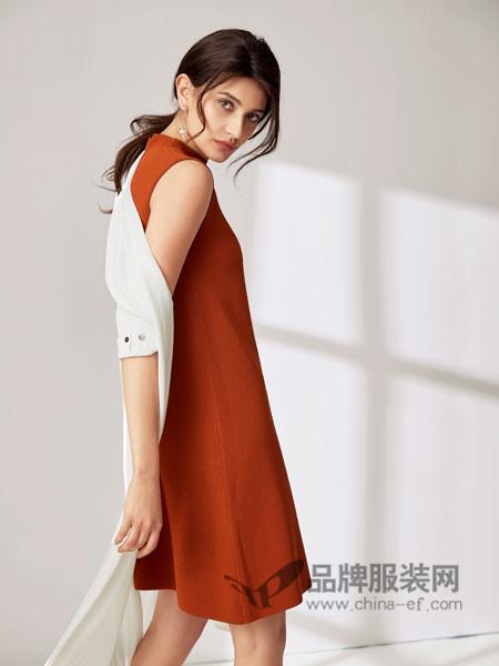 SN女装2018春夏时尚优雅无袖雪纺连衣裙
