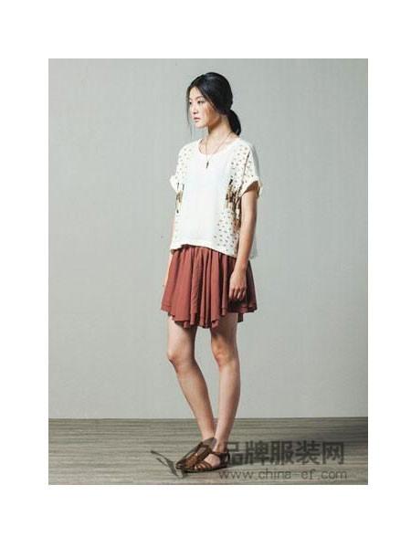 moveup-kids女装2018春休闲时尚白色连衣裙