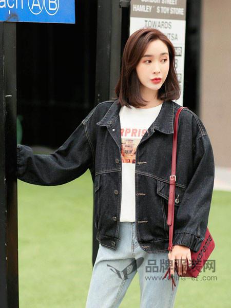 左韩女装2018春时尚休闲百搭宽松牛仔外套