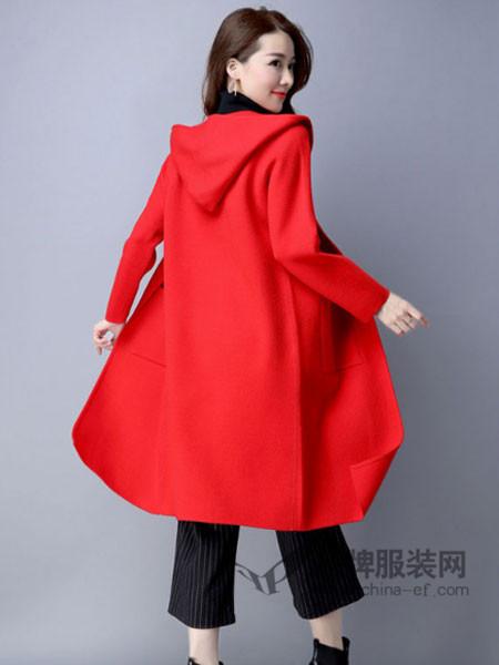 缘曼女装2017秋冬修身显瘦纯双面羊毛呢外套