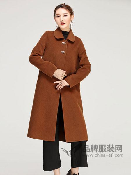 缘曼女装2017秋冬羊毛零羊绒女式双面呢外套