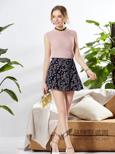 城市衣柜女装2018春夏时尚优雅碎花短裙